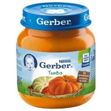 Детское пюре GerberДетское пюре Gerber тыква 1 ступень 130 г, возраст 2 ступень (3-6 мес). Проконсультируйтесь со специалистом. Для детей с 0 месяцев<br><br>Возраст: 2 ступень (3-6 мес)
