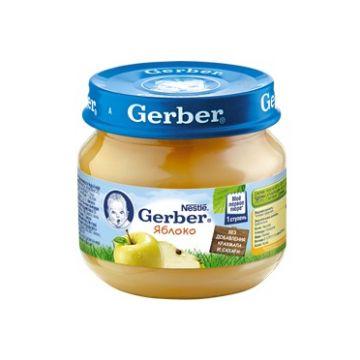 Детское пюре GerberДетское пюре Gerber яблоко 1 ступень 80 г, возраст 2 ступень (3-6 мес). Проконсультируйтесь со специалистом. Для детей с 0 месяцев<br><br>Возраст: 2 ступень (3-6 мес)