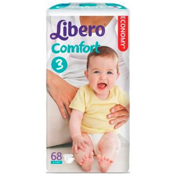Подгузники LiberoПодгузники Libero comfort размер M (4-9 кг) 68 шт, в упаковке 68 шт., размер M<br><br>Штук в упаковке: 68<br>Размер: M