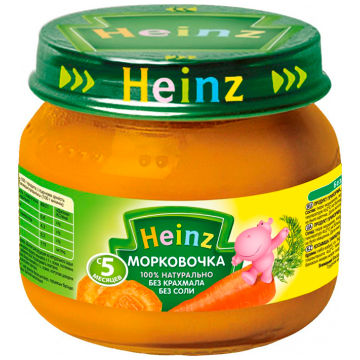 Детское пюре HeinzДетское пюре Heinz Морковочка с 5 мес. 80 г, возраст 2 ступень (3-6 мес). Проконсультируйтесь со специалистом. Для детей с 5 мес.<br><br>Возраст: 2 ступень (3-6 мес)