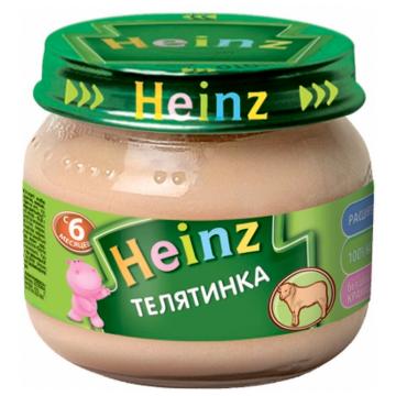 Детское пюре HeinzДетское пюре Heinz Телятинка с 6 мес. 80 г, возраст 3 ступень (6-12 мес). Проконсультируйтесь со специалистом. Для детей с 6 мес.<br><br>Возраст: 3 ступень (6-12 мес)