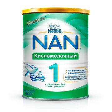 Сухая молочная смесь NanСухая молочная смесь Nan 1 Кисломолочный с 0 мес. 400 гр, возраст 1 ступень (0-3 мес). Проконсультируйтесь со специалистом. Для детей с 0 мес.<br><br>Возраст: 1 ступень (0-3 мес)