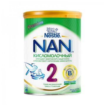Сухая молочная смесь NanСухая молочная смесь Nan 2 Кисломолочный с 6 мес. 400 гр, возраст 3 ступень (6-12 мес). Проконсультируйтесь со специалистом. Для детей с 6 мес.<br><br>Возраст: 3 ступень (6-12 мес)