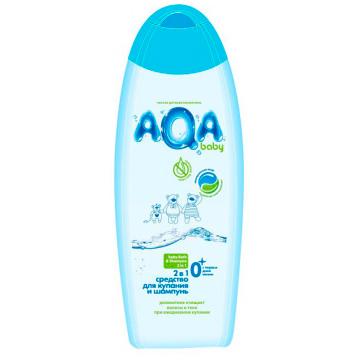 Средство для купания и шампунь Aqa BabyСредство для купания и шампунь Aqa Baby 2 в 1 (500 мл)<br>