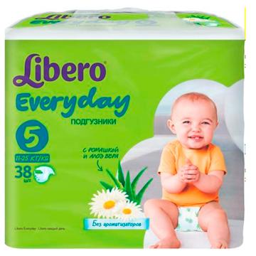 Подгузники Libero Every Day размер ХL (11-25 кг) с ромашкой 38 шт