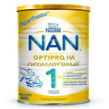 Сухая молочная смесь NanСухая молочная смесь Nan HA 1 OPTOPRO гипоаллергенная с 0 мес. 400 гр, возраст 1 ступень (0-3 мес). Проконсультируйтесь со специалистом. Для детей с 0 мес.<br><br>Возраст: 1 ступень (0-3 мес)