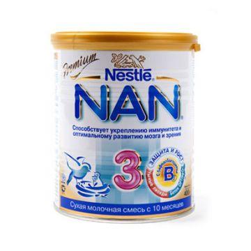 Детское молочко (молочная смесь) NanДетское молочко (молочная смесь) Nan 3 с бифидобактериями (BL) с 12 мес. 400 г, возраст 4 ступень (&gt;12 мес). Проконсультируйтесь со специалистом. Для детей с 12 мес.<br><br>Возраст: 4 ступень (&gt;12 мес)