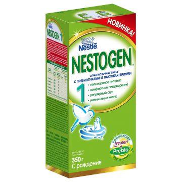Сухая молочная смесь NestogenСухая молочная смесь Nestogen 1 (с пребиотиками) с 0 мес. 350 гр, возраст 1 ступень (0-3 мес). Проконсультируйтесь со специалистом. Для детей с 0 мес.<br><br>Возраст: 1 ступень (0-3 мес)