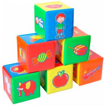 Набор кубиков BabyOnoНабор кубиков BabyOno 6 шт., возраст с 9 мес.<br><br>Возраст: с 9 мес.
