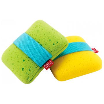 Мочалка с эластичным фиксатором на руку Happy Baby Sponge (green)