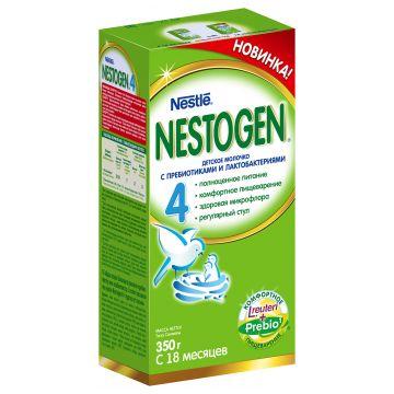 Детское молочко (молочная смесь) NestogenДетское молочко (молочная смесь) Nestogen 4 (с пребиотиками) с 18 мес. 350 г, возраст 4 ступень (&gt;12 мес). Проконсультируйтесь со специалистом. Для детей с 18 мес.<br><br>Возраст: 4 ступень (&gt;12 мес)