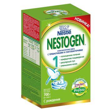 Сухая молочная смесь NestogenСухая молочная смесь Nestogen 1 (с пребиотиками) с 0 мес. 700 гр, возраст 1 ступень (0-3 мес). Проконсультируйтесь со специалистом. Для детей с 0 мес.<br><br>Возраст: 1 ступень (0-3 мес)