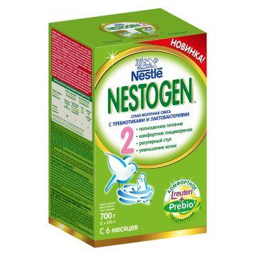 Сухая молочная смесь NestogenСухая молочная смесь Nestogen 2 (с пребиотиками) с 6 мес. 700 гр, объем, 700л., возраст 3 ступень (6-12 мес). Проконсультируйтесь со специалистом. Для детей с 6 мес.<br><br>Объем, л.: 700<br>Возраст: 3 ступень (6-12 мес)