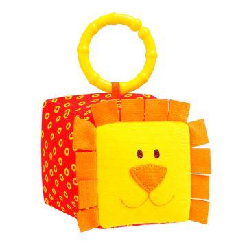 Игрушка МякишиИгрушка Мякиши кубик Зоо Львенок 259, возраст с 6 мес.<br><br>Возраст: с 6 мес.