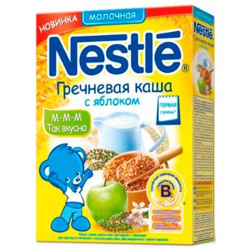 Каша NestleКаша Nestle Гречневая с яблоком молочная 1 ступень 250 г, возраст 2 ступень (3-6 мес). Проконсультируйтесь со специалистом. Для детей с 4 мес.<br><br>Возраст: 2 ступень (3-6 мес)