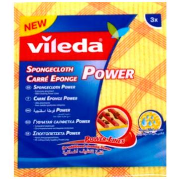 Салфетка для уборки ViledaСалфетка для уборки Vileda губчатая Power 3 шт.<br>