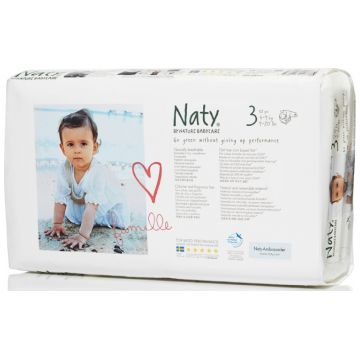 Подгузники NatyПодгузники Naty размер 3 (4-9 кг) 52 шт, в упаковке 52 шт., размер S<br><br>Штук в упаковке: 52<br>Размер: S