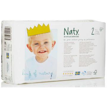 Подгузники NatyПодгузники Naty размер 2 (3-6 кг) 34 шт, в упаковке 34 шт., размер NB<br><br>Штук в упаковке: 34<br>Размер: NB