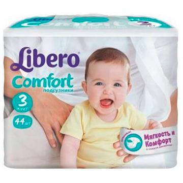 Подгузники LiberoПодгузники Libero comfort размер M (4-9 кг) 44 шт, в упаковке 44 шт., размер M<br><br>Штук в упаковке: 44<br>Размер: M