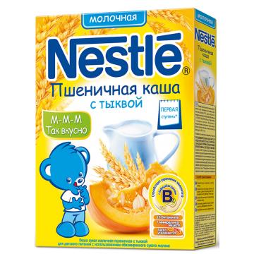 Каша NestleКаша Nestle пшеничная с тыквой молочная 1 ступень 250 г, возраст 3 ступень (6-12 мес). Проконсультируйтесь со специалистом. Для детей  с 0 месяцев<br><br>Возраст: 3 ступень (6-12 мес)