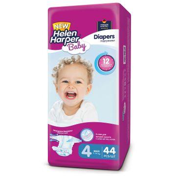 Подгузники Helen HarperПодгузники Helen Harper Baby размер 4 Maxi (7-18 кг) 44 шт, в упаковке 44 шт., размер L<br><br>Штук в упаковке: 44<br>Размер: L