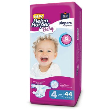 Подгузники Helen Harper Baby размер 4 Maxi (7-18 кг) 44 шт