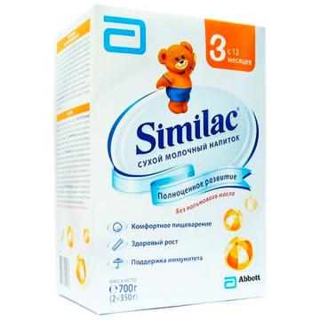 Молочная смесь SimilacМолочная смесь Similac 3 сухая с 12 мес. 700 г (карт. пачка), возраст 4 ступень (&gt;12 мес). Проконсультируйтесь со специалистом. Для детей c 12 мес.<br><br>Возраст: 4 ступень (&gt;12 мес)