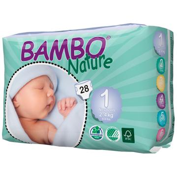 Подгузники BamboПодгузники Bambo Nature Premature размер 1 (2-4 кг) 28 шт, в упаковке 28 шт., размер NB<br><br>Штук в упаковке: 28<br>Размер: NB