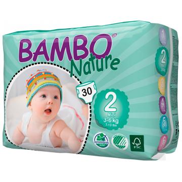 Подгузники BamboПодгузники Bambo Nature Mini размер 2 (3-6 кг) 30 шт, в упаковке 30 шт., размер S<br><br>Штук в упаковке: 30<br>Размер: S
