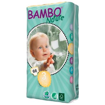 Подгузники BamboПодгузники Bambo Nature Midi Tall размер 3 (5-9 кг) 66 шт, в упаковке 66 шт., размер M<br><br>Штук в упаковке: 66<br>Размер: M