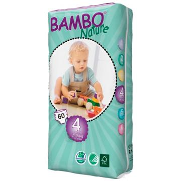 Подгузники BamboПодгузники Bambo Nature Maxi Tall размер 4 (7-18 кг) 60 шт, в упаковке 60 шт., размер L<br><br>Штук в упаковке: 60<br>Размер: L