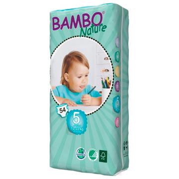 Подгузники BamboПодгузники Bambo Nature Junior Tall размер 5 (12-22 кг) 54 шт, в упаковке 54 шт., размер XL (BIG)<br><br>Штук в упаковке: 54<br>Размер: XL (BIG)