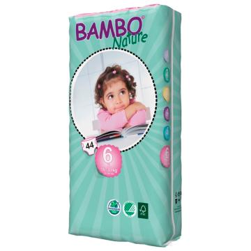 Подгузники BamboПодгузники Bambo Nature XL Tall размер 6 (16-30 кг) 44 шт, в упаковке 44 шт., размер XXL<br><br>Штук в упаковке: 44<br>Размер: XXL