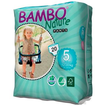 Трусики BamboТрусики Bambo Nature размер 5 (12-20 кг) 20 шт, в упаковке 20 шт., размер XL (BIG)<br><br>Штук в упаковке: 20<br>Размер: XL (BIG)