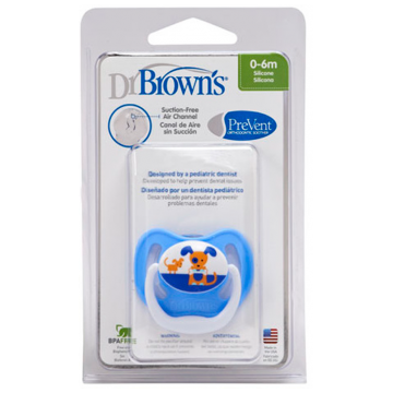 Пустышка Dr.BrownsПустышка Dr.Browns силиконовая ортодонтическая PreVent в асс. 0-6 мес.<br>