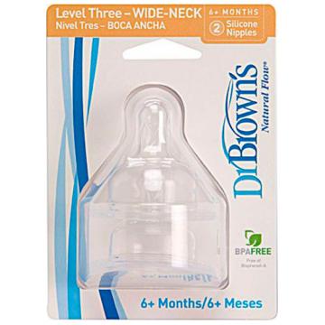 Соска Dr.BrownsСоска Dr.Browns  силиконовая, с широким горлышком с 6 мес. 2 шт, возраст 3 ступень (6-12 мес)<br><br>Возраст: 3 ступень (6-12 мес)
