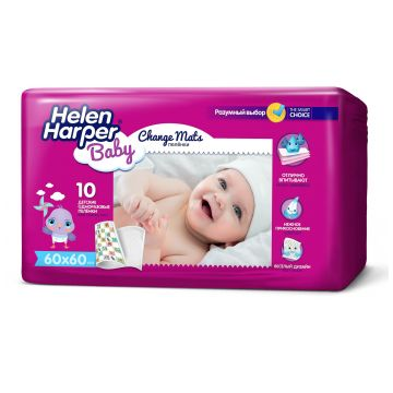 Пеленки детские Helen HarperПеленки детские Helen Harper Baby впитывающие 60x60 10 шт, в упаковке 10 шт.<br><br>Штук в упаковке: 10