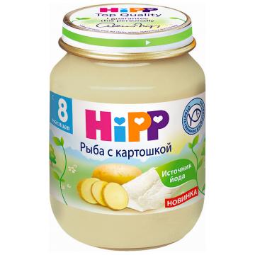 Детское пюре Детское питание HippДетское пюре Hipp Рыба с картошкой с 8 мес. 125 г, возраст 3 ступень (6-12 мес). Проконсультируйтесь со специалистом. Для детей с 8 мес.<br><br>Возраст: 3 ступень (6-12 мес)