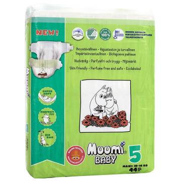 Подгузники MuumiПодгузники Muumi Baby Maxi+ (10-16 кг) 44 шт, в упаковке 44 шт., размер L<br><br>Штук в упаковке: 44<br>Размер: L