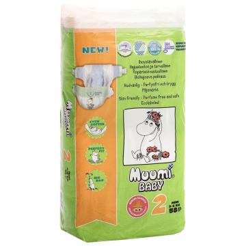 Подгузники MuumiПодгузники Muumi Baby Mini (3-6 кг) 58 шт, в упаковке 58 шт., размер NB<br><br>Штук в упаковке: 58<br>Размер: NB