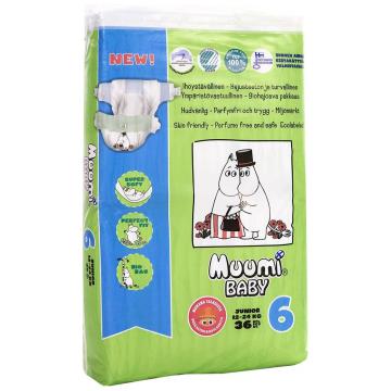 Подгузники MuumiПодгузники Muumi Baby Junior (12-24 кг) 36 шт, в упаковке 36 шт., размер XL (BIG)<br><br>Штук в упаковке: 36<br>Размер: XL (BIG)