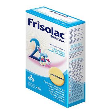 Молочная смесь FrisoМолочная смесь Friso Фрисолак 2 с 6-12 мес. 400 г (картон), возраст 3 ступень (6-12 мес). Проконсультируйтесь со специалистом. Для детей 6-12 мес.<br><br>Возраст: 3 ступень (6-12 мес)