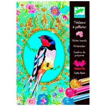 Набор для творчества DjecoНабор для творчества Djeco Блестящие птицы 09501<br>