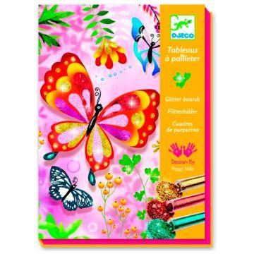 Раскраска DjecoРаскраска Djeco Блестящие бабочки<br>