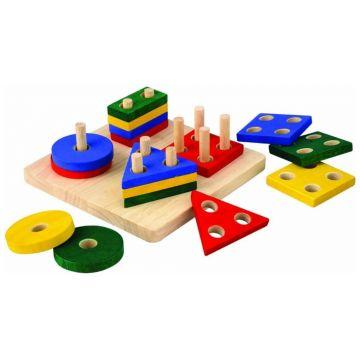 Сортер Plan ToysСортер Plan Toys Доска с геометрическими фигурами<br>
