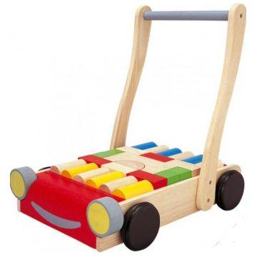 Игрушка деревянная Plan ToysИгрушка деревянная Plan Toys Тележка с блоками 5123<br>