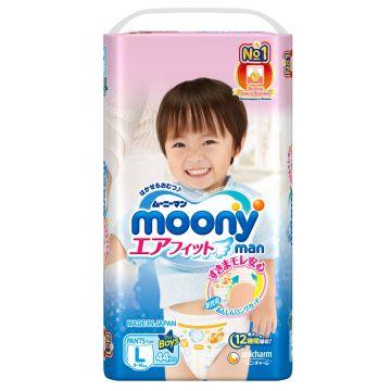 Трусики для мальчиков MoonyТрусики для мальчиков Moony L (9-14 кг) 44 шт, в упаковке 44 шт., размер L<br><br>Штук в упаковке: 44<br>Размер: L