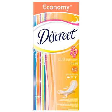 Прокладки женские гигиенические DiscreetПрокладки женские гигиенические Discreet Multiform Deo Summer Fresh Trio на каждый день  60 шт, в упаковке 60 шт.<br><br>Штук в упаковке: 60