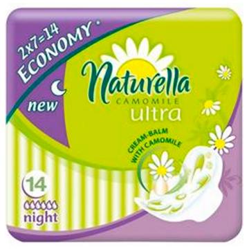 Прокладки женские гигиенические NaturellaПрокладки женские гигиенические Naturella Ultra Camomile Night Duo 14 шт, в упаковке 14 шт.<br><br>Штук в упаковке: 14
