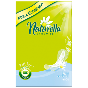 Прокладки женские гигиенические NaturellaПрокладки женские гигиенические Naturella  Camomile Light  на каждый день 100 шт, в упаковке 100 шт.<br><br>Штук в упаковке: 100